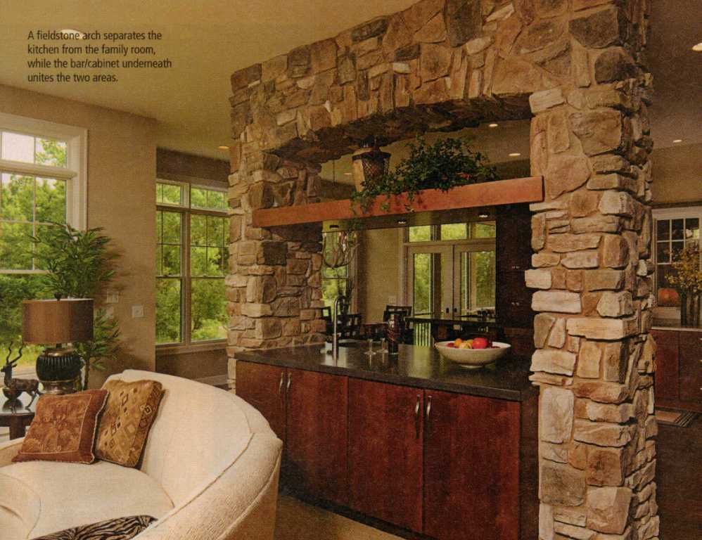 This Arch Between Kitchen And Living Room Minus The Bar Portion Would Be A