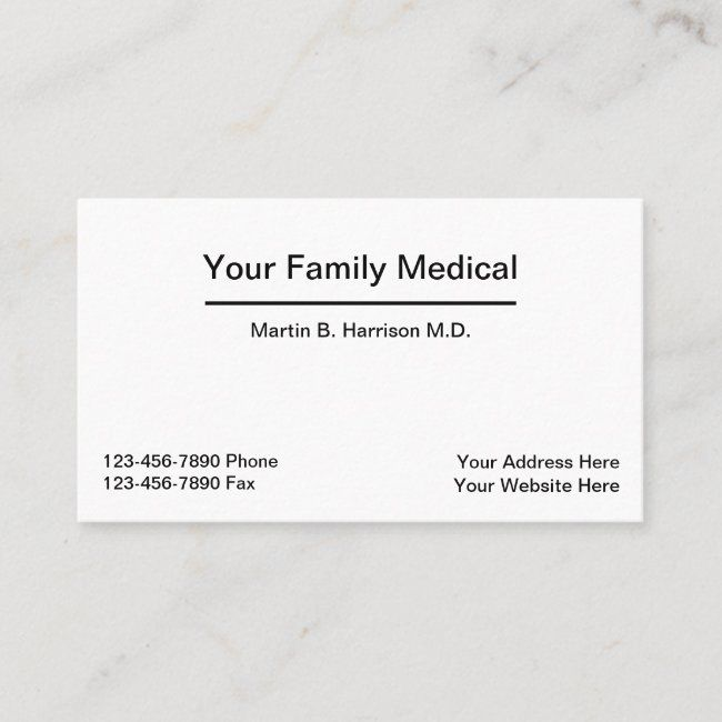 Medical Doctor Office Appointment Combination Business Card | Zazzle.com