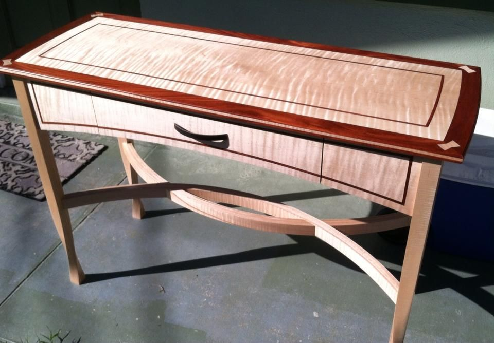 Foyer Table Woodworking Plans : Elegant hall table reader s gallery fine woodworking
