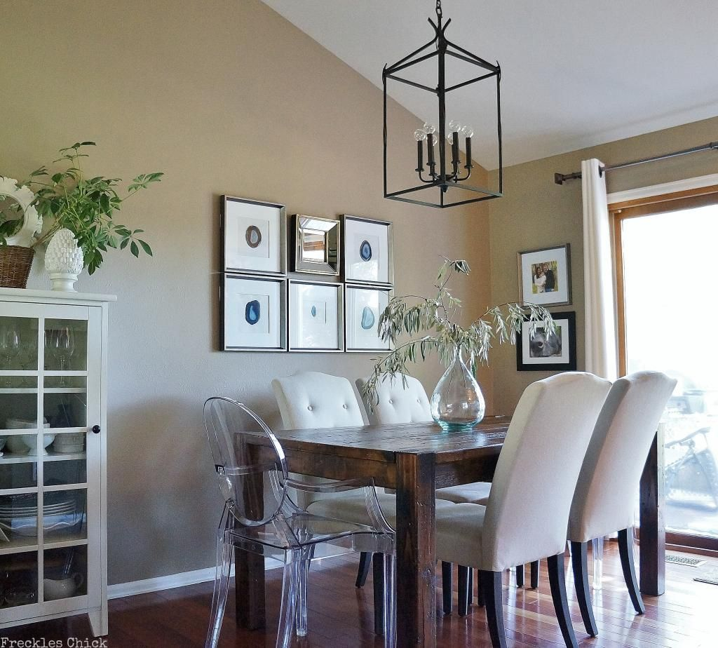 Love The Lantern Mix Of Lucite Upholstered Chairs