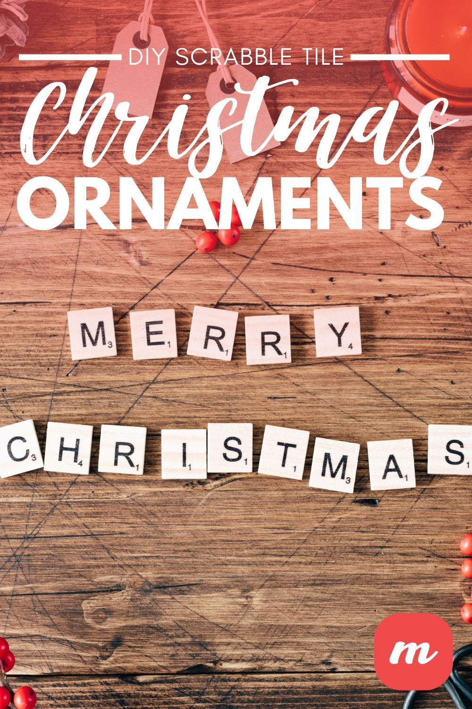 Diy Scrabble Tile Christmas Ornaments Scrabble Tiles Scrabble Tiles Diy Christmas Decor Diy