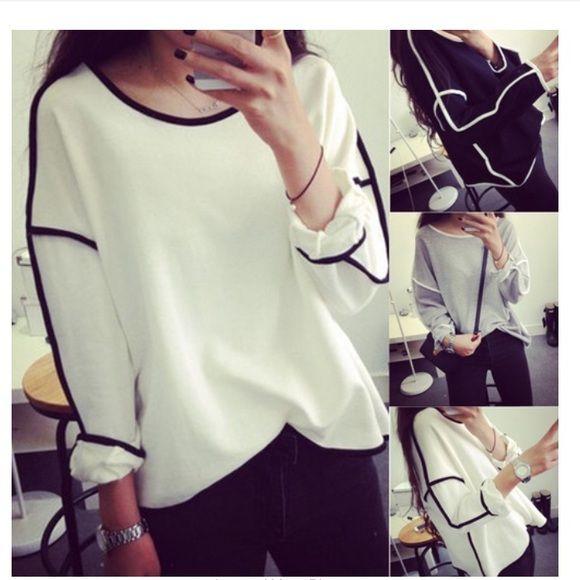 Classy black and white shirt Classy black and white shirt Tops