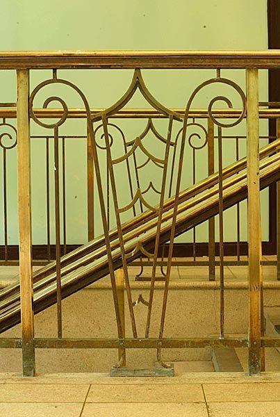 Art Deco railing detail, foyer entrance | Art deco ...