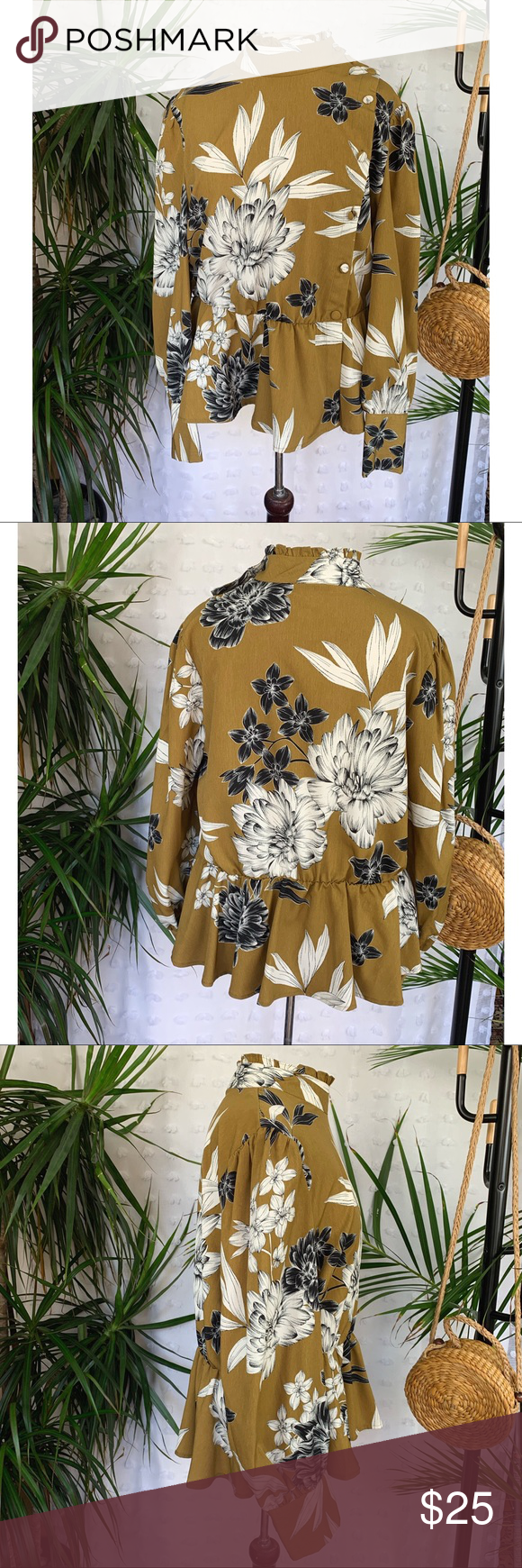 WHO WHAT WEAR Mustard Floral Blouse I just added this listing on Poshmark: WHO WHAT WEAR Mustard Floral Blouse. What Wear