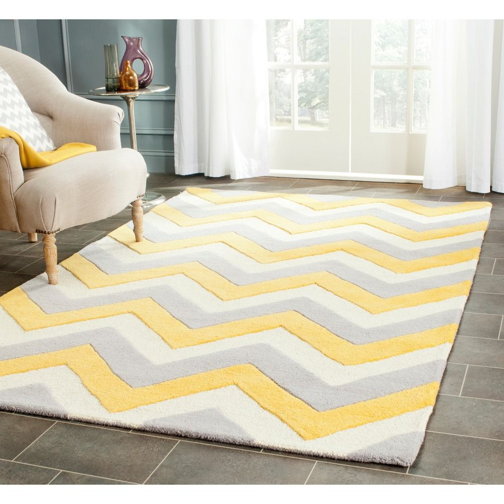 Safavieh Handmade Moroccan Cambridge Grey/ Gold Wool Rug X   Overstock™  Shopping   Great Deals On Safavieh   Rugs