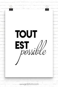 Black U0026 White French Words Art For Your Home Decor. Bring Back Memories Of A