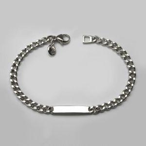 85b6b2e51c450 Medium ID Bracelet in Sterling Silver - Womens Bracelets - Designer  Jewellery by Stephen Einhorn London