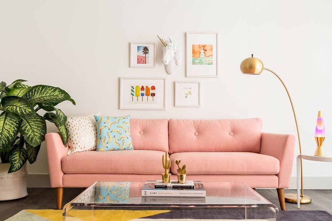Emil Quartz Rose Sofa Salon