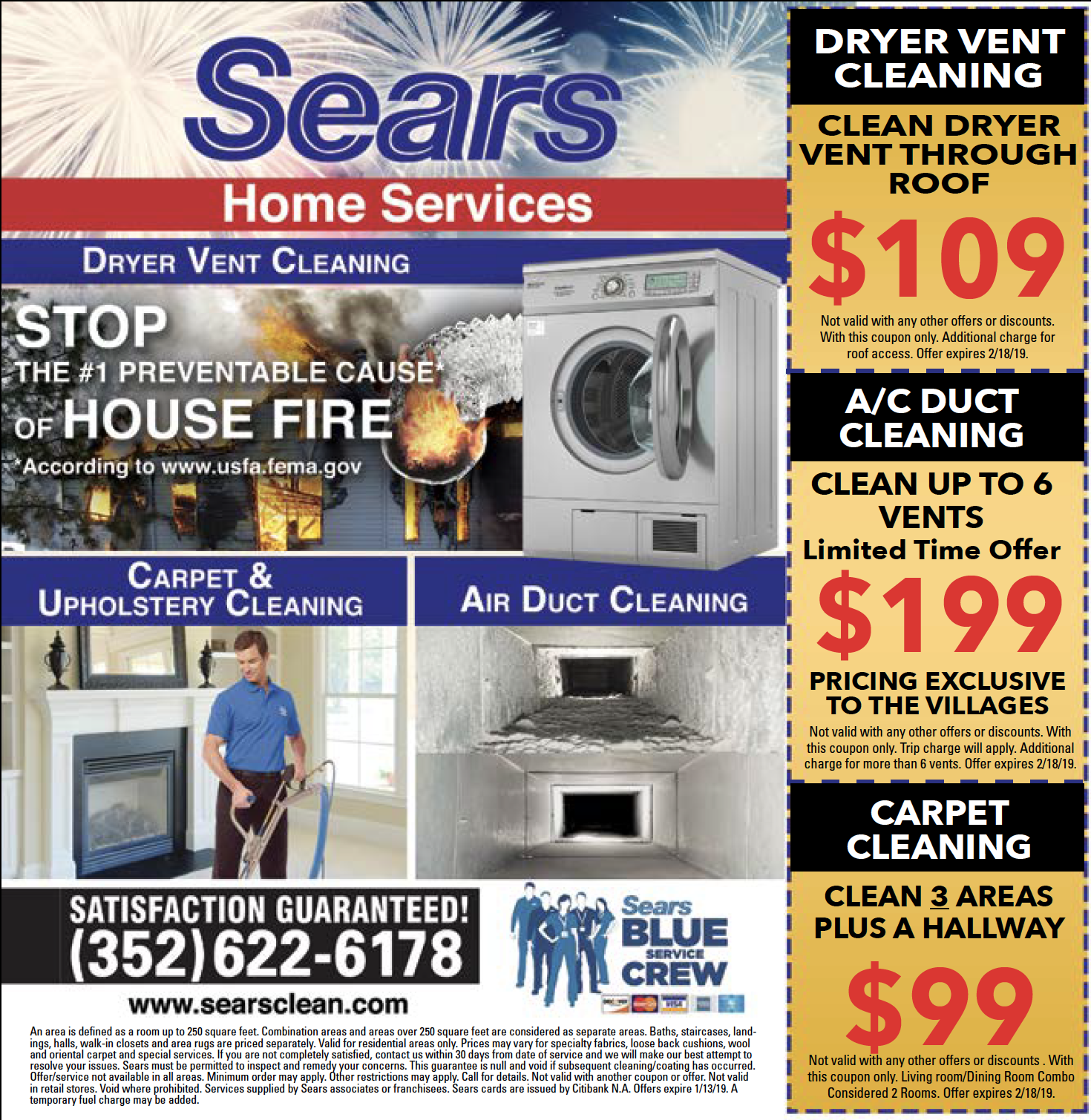 SEARS Home Services Duct cleaning, Vent cleaning, Clean