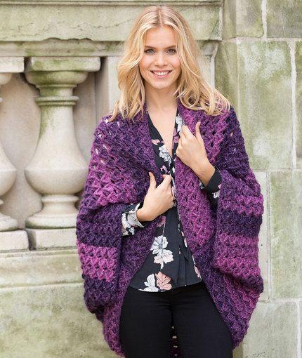 Colossal Shrug Free Crochet Pattern in Red Heart Yarns | crochet ...