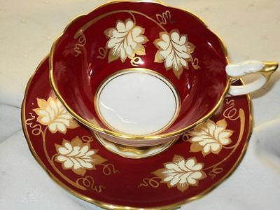 •.¸.•´ ` ❤☆.¸.☆ *❤•.¸.•´ `•.¸.•´ ` ❤☆.¸.☆ ..ROYAL STAFFORD ENGLAND GOLD DARK RED TEA CUP AND SAUCER $149.00•.¸.•´ ` ❤☆.¸.☆ *❤•.¸.•´ `•.¸.•´ ` ❤☆.¸.☆ ..