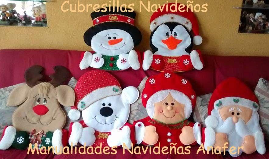 Manualidades Navideñas Anafer: Cubresillas Navideños ...