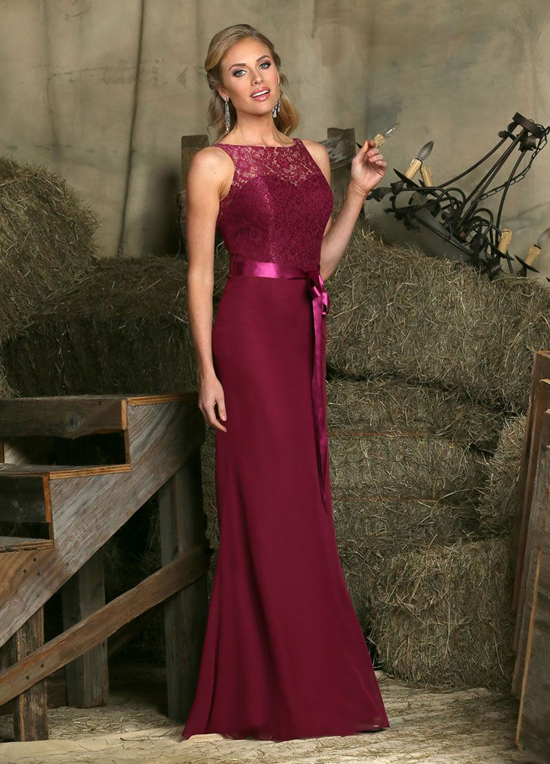 Long bridesmaid dress accenting with subtle lace overlay on the long bridesmaid dress accenting with subtle lace overlay on the strapless backless underskirt matching with ombrellifo Choice Image