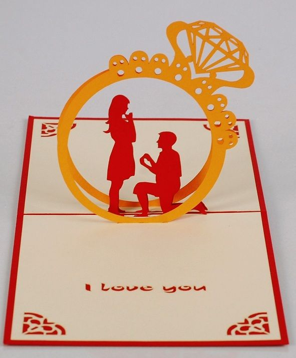 Suitable for Love Wedding in Love Couple Proposal Anniversary Engagement Birthday - Wow 3D Pop Up Greeting Card Original