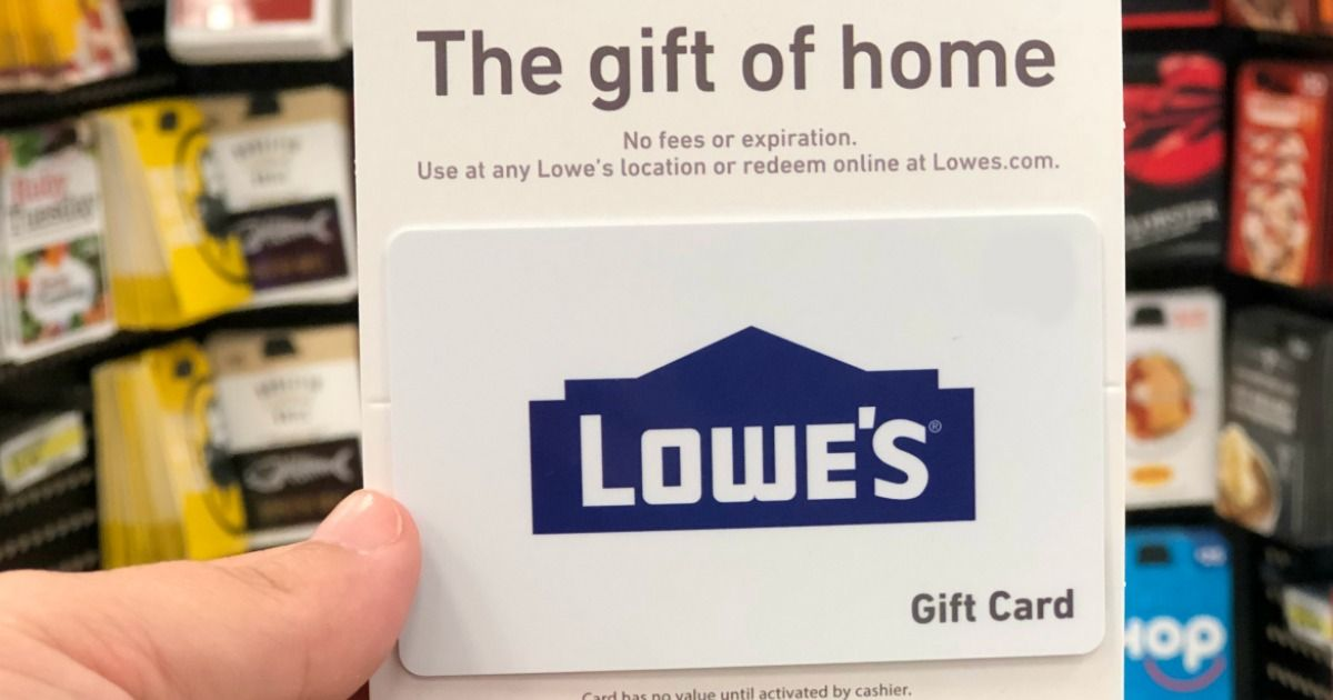 Hip2Save 100 Lowe's eGift Card Only 90 Save 10 off