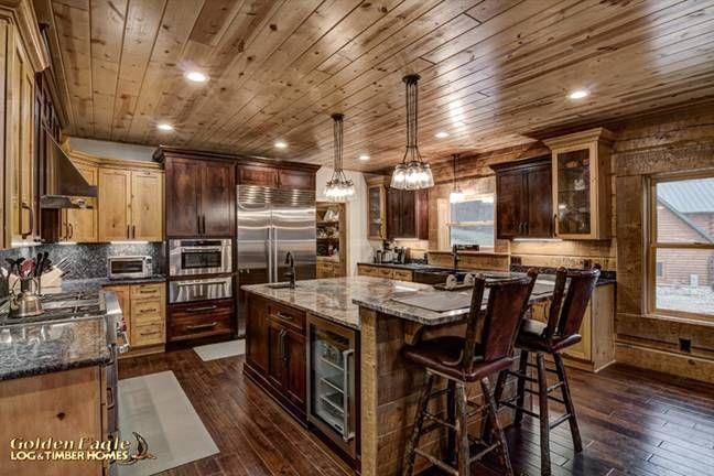Rocky Mountain 4327AL Log Home Floor Plan by Golden Eagle Log Homes
