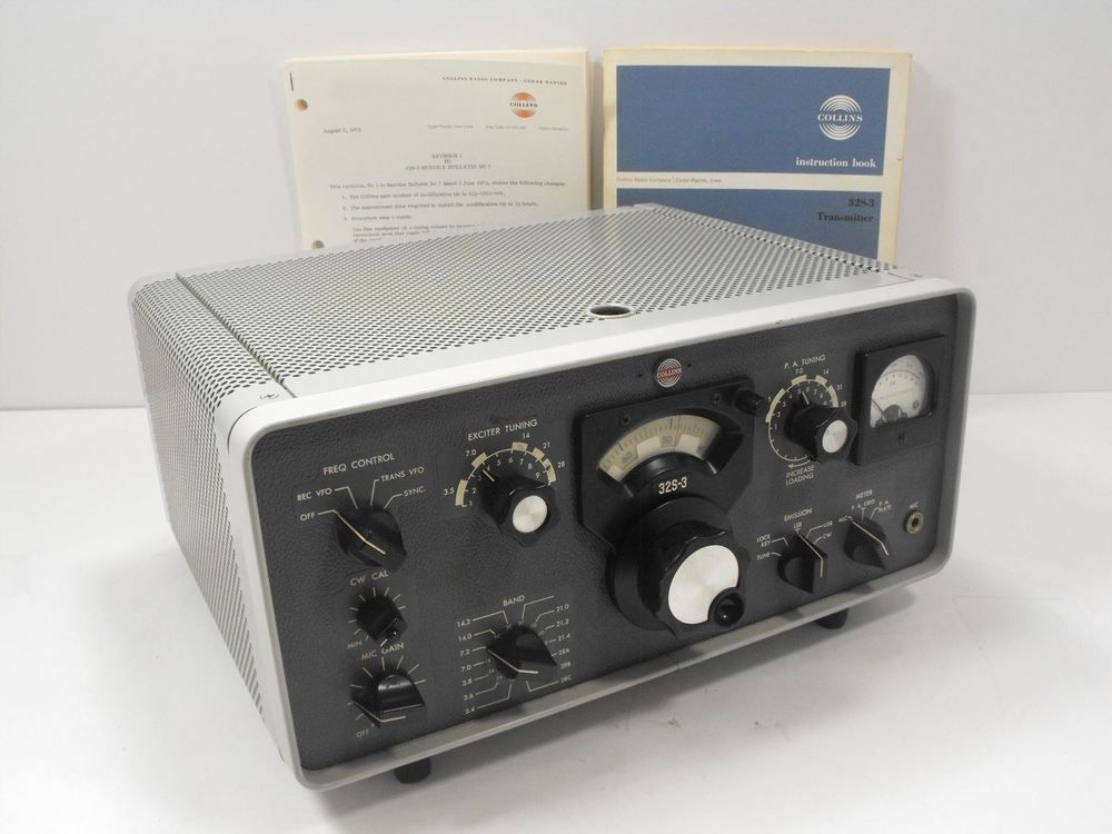 Collins 32s 3 Vintage Round Emblem Re Ham Radio Transmitter Sn 102311 Ebay Ham Radio For Sale Ham Radio Radio