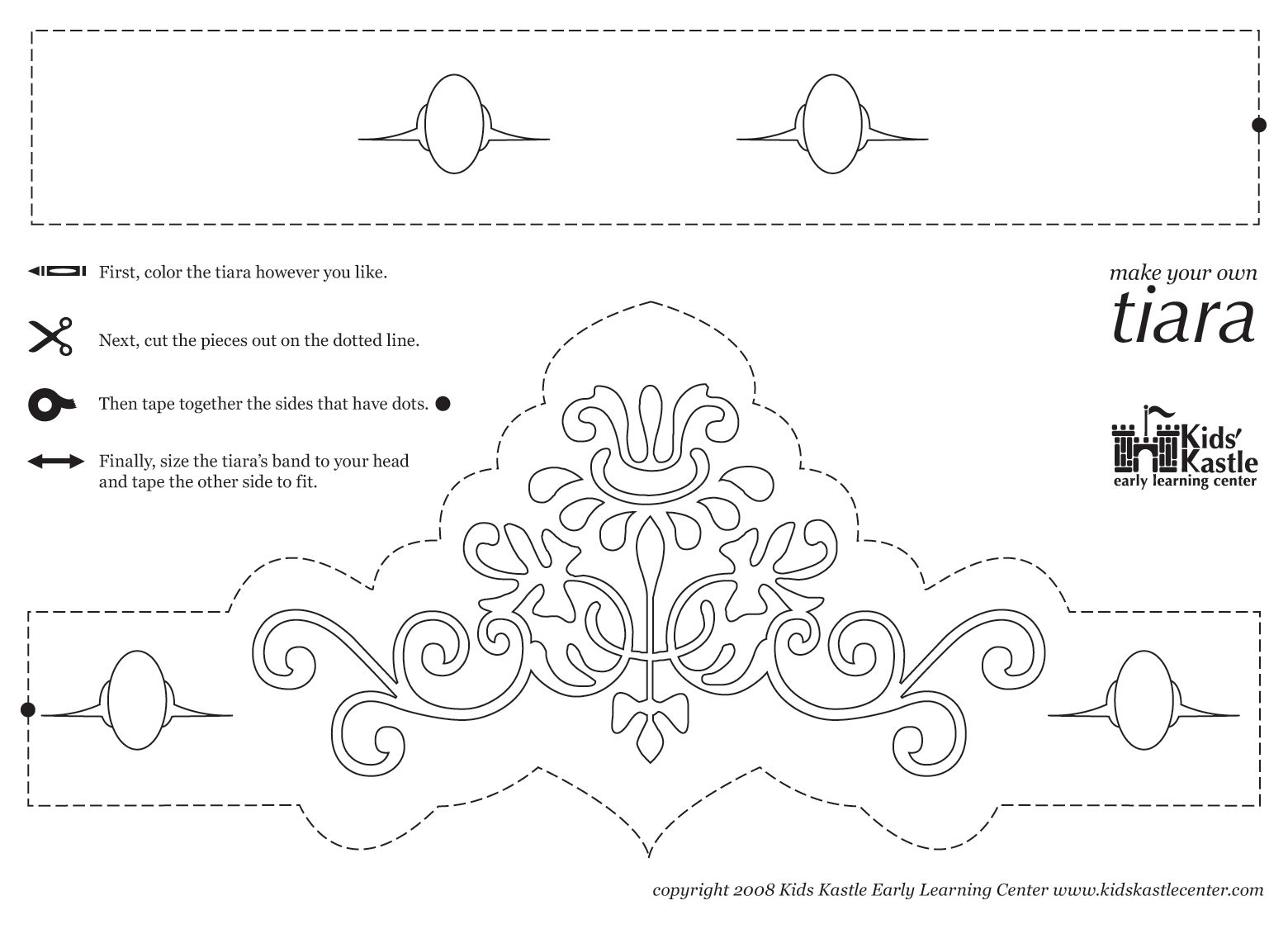 princess crown pattern printable princess tiara templates