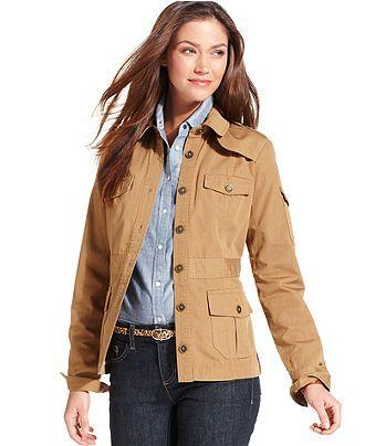 ca46055f46217 Tommy Hilfiger Lightweight Safari Jacket - Jackets   Blazers - Women -  Macy s
