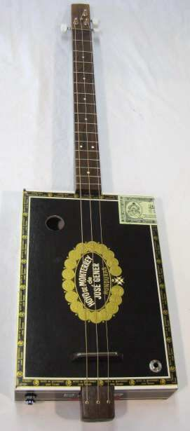 electric cigar box guitar 25 inch scale pizeo pickup 16 frets high quality nickel silver. Black Bedroom Furniture Sets. Home Design Ideas