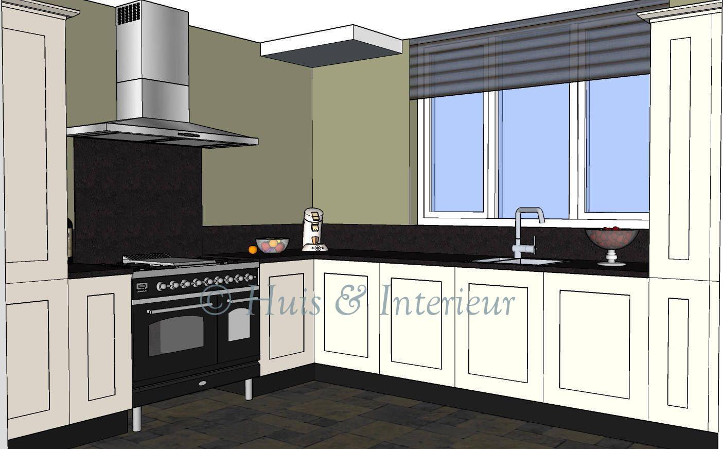 Keuken met boretti fornuis de wens van de opdrachtgeefster 3d