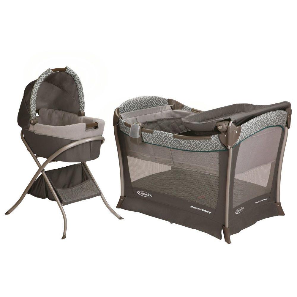 50c6c4827 Pack N' Play Bundle Baby Infant Graco Newborn Sleeper Modern Safety Set  Bassinet #Graco