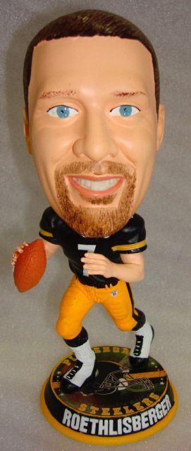 c8222836743 Ben Roethlisberger (Pittsburgh Steelers) Forever Collectibles Big Head  BobbleHead