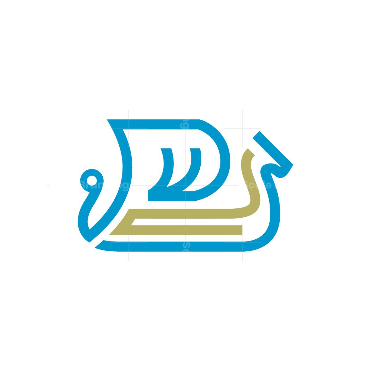 Line Viking Ship Logo Ship Logo Viking Ship Logos