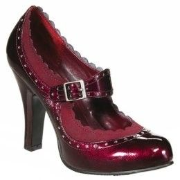 Mossimo Velda Patent Oxford Pumps #burgundy #maryjanes #heels