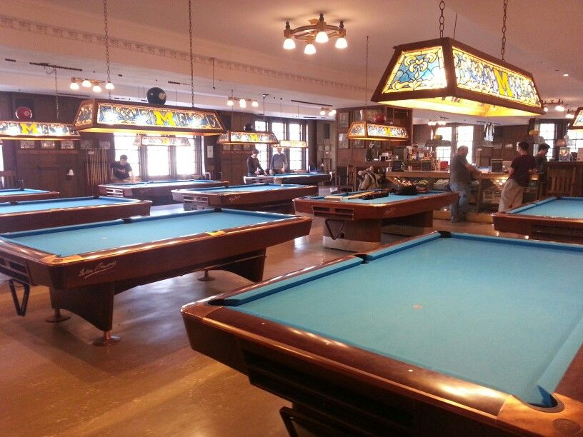 Merveilleux Michigan Union Pool Hall :) Billiard Room, Ann Arbor, Eastern Michigan  University,