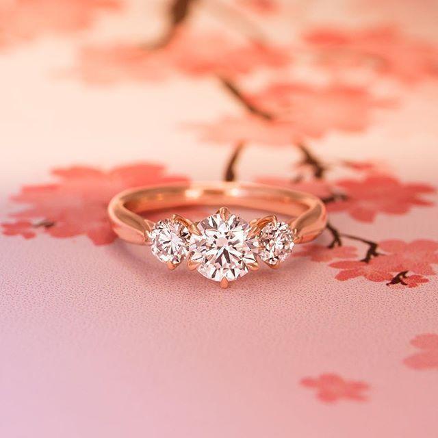 14k Rose Gold Three Stone Catalina Diamond Ring Three Stone Engagement Rings Brilliant Earth Engagement Ring Earth Engagement Rings