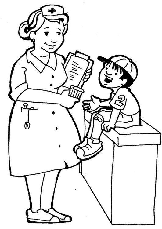 Dibujo Para Colorear Enfermera Enfermera Para Colorear Enfermero Dibujo Libro De Colores