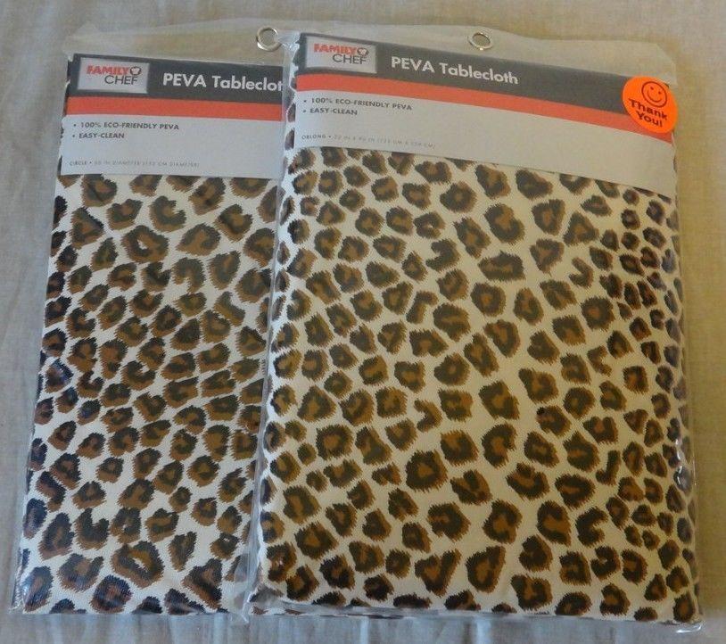 Rare leopard cheetah animal print table cover jungle safari party decoration familychef - Deco table jungle ...