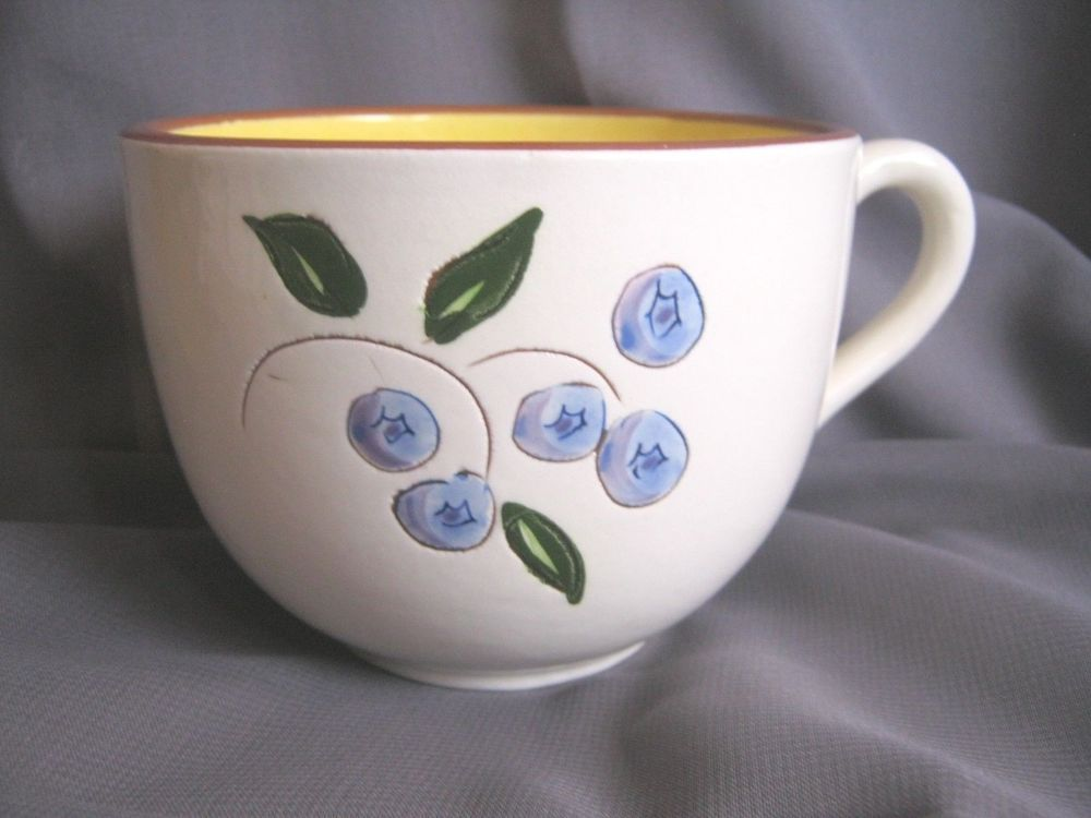 Stangl Pottery Blueberry Oversized Cup Trenton N.J. Rare USA Dinnerware Pattern #Stangl & Stangl Pottery Blueberry Oversized Cup Trenton N.J. Rare USA ...