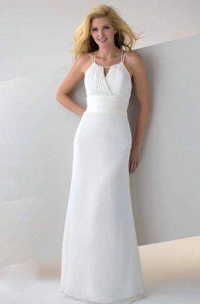 aac86e488 Vestido de madrinha de casamento branco para casamento na praia [3 ...