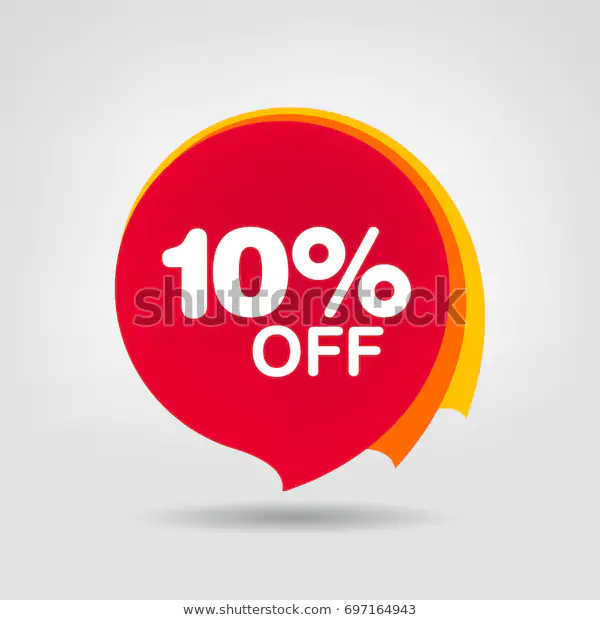 10 Off Sale Discount Banner Discount Stock Vector Royalty Free 697164943