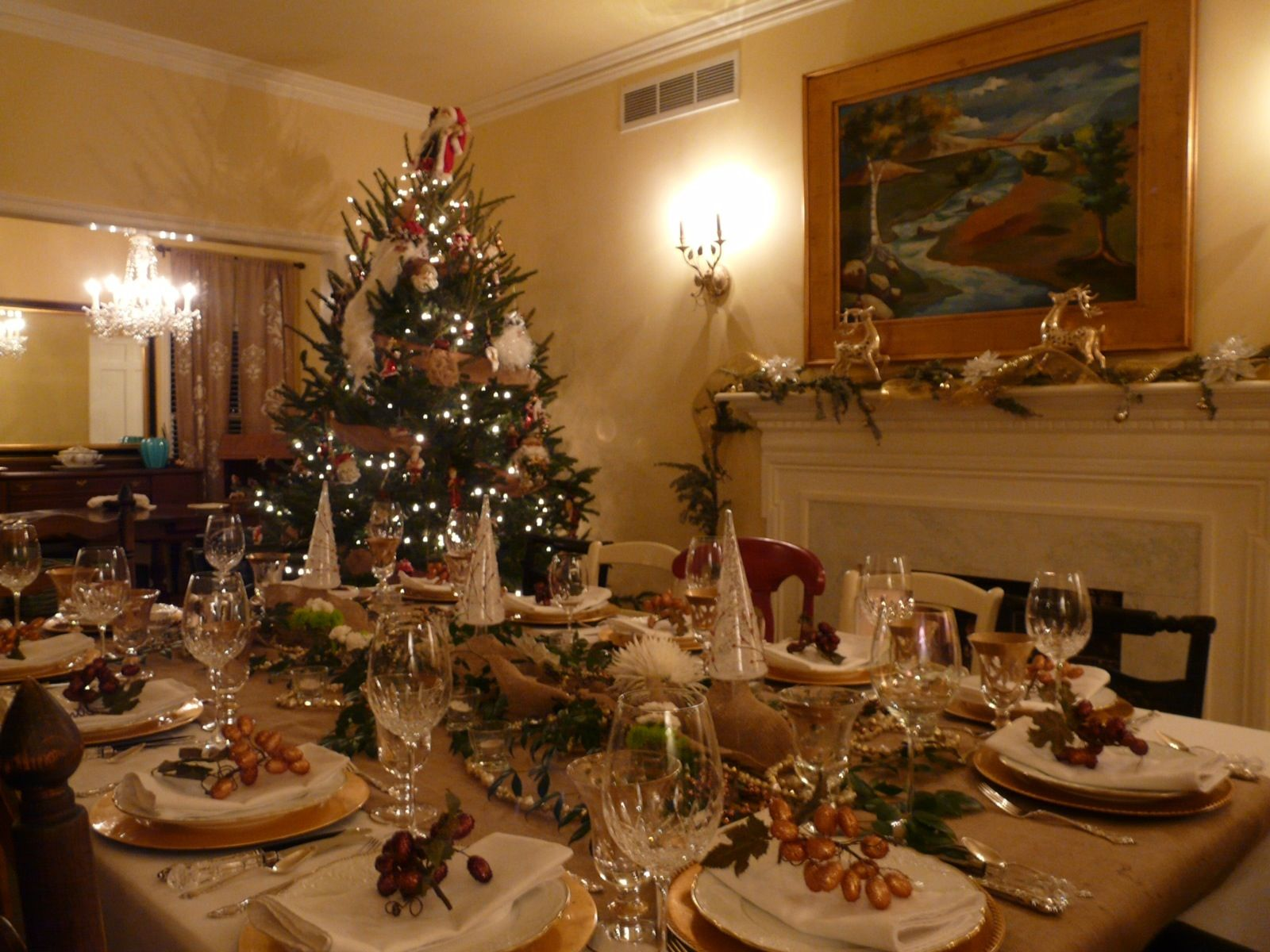 dining room christmas menu