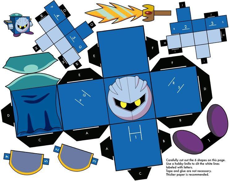 meta knight ペーパークラフト 3d紙 カービー