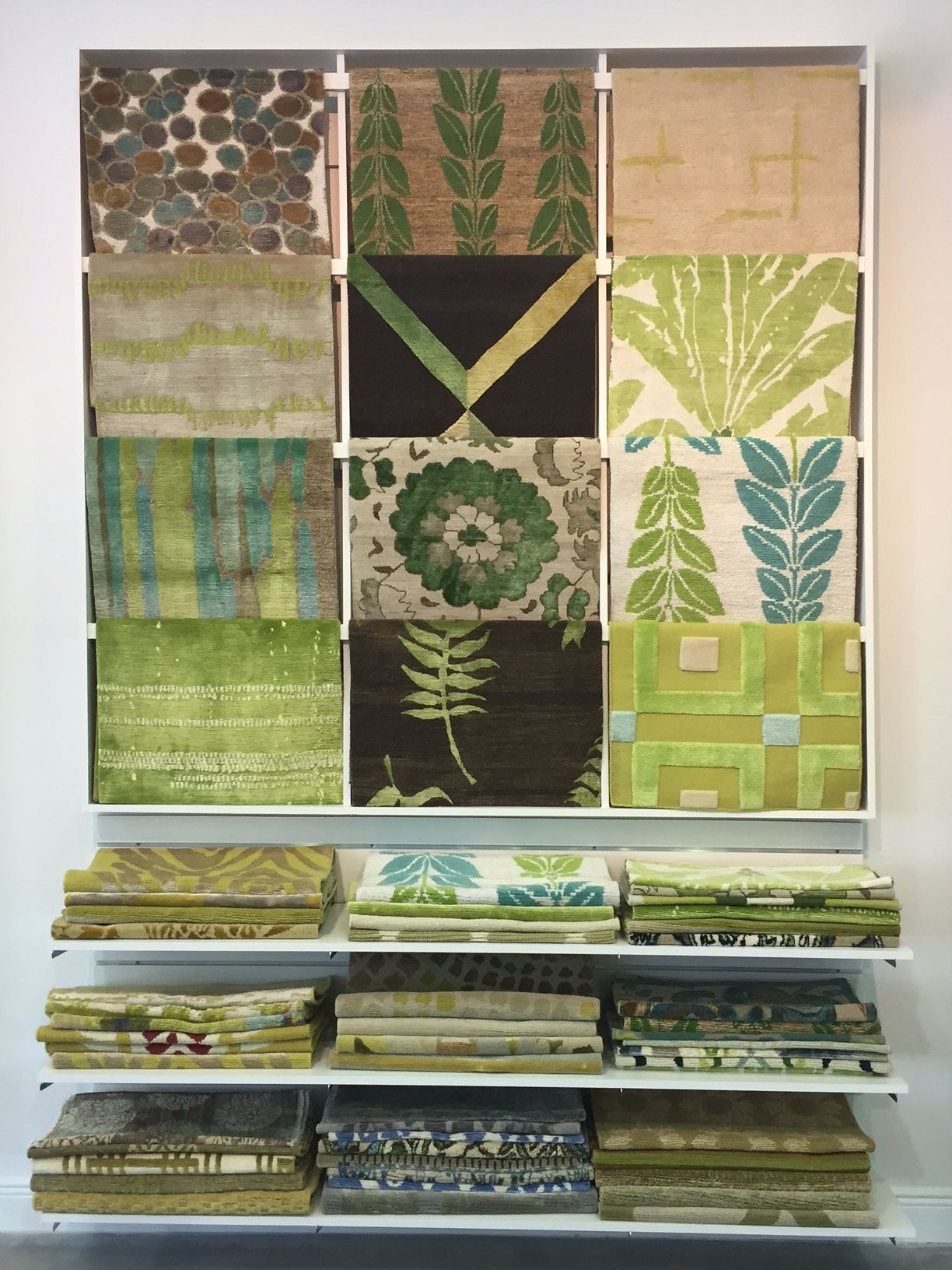 NIBA Designs Showroom has Spring fever. Color is one of the many ways to customize a hand made rug.