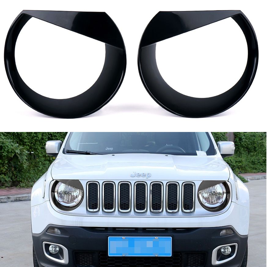 Black Angry Birds Headlight Bezels For 2015 2017 Jeep Renegade