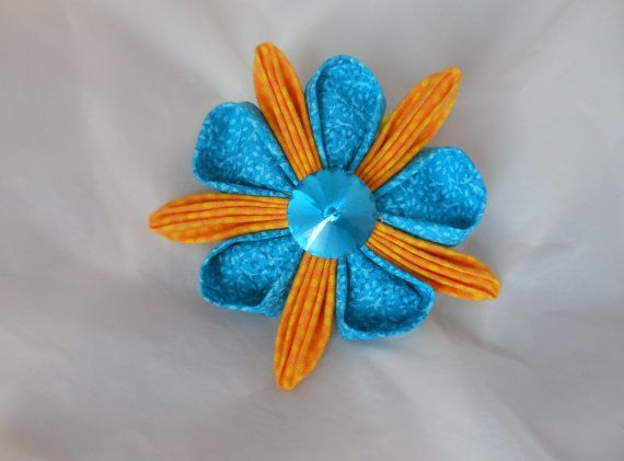 Kanzashi Flower Ponytail Band Hair Tie by madewithlovebykaren, $10.00