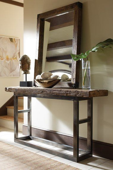 Wood And Metal Console Table | Bliss   Mix Of New And Olde World.