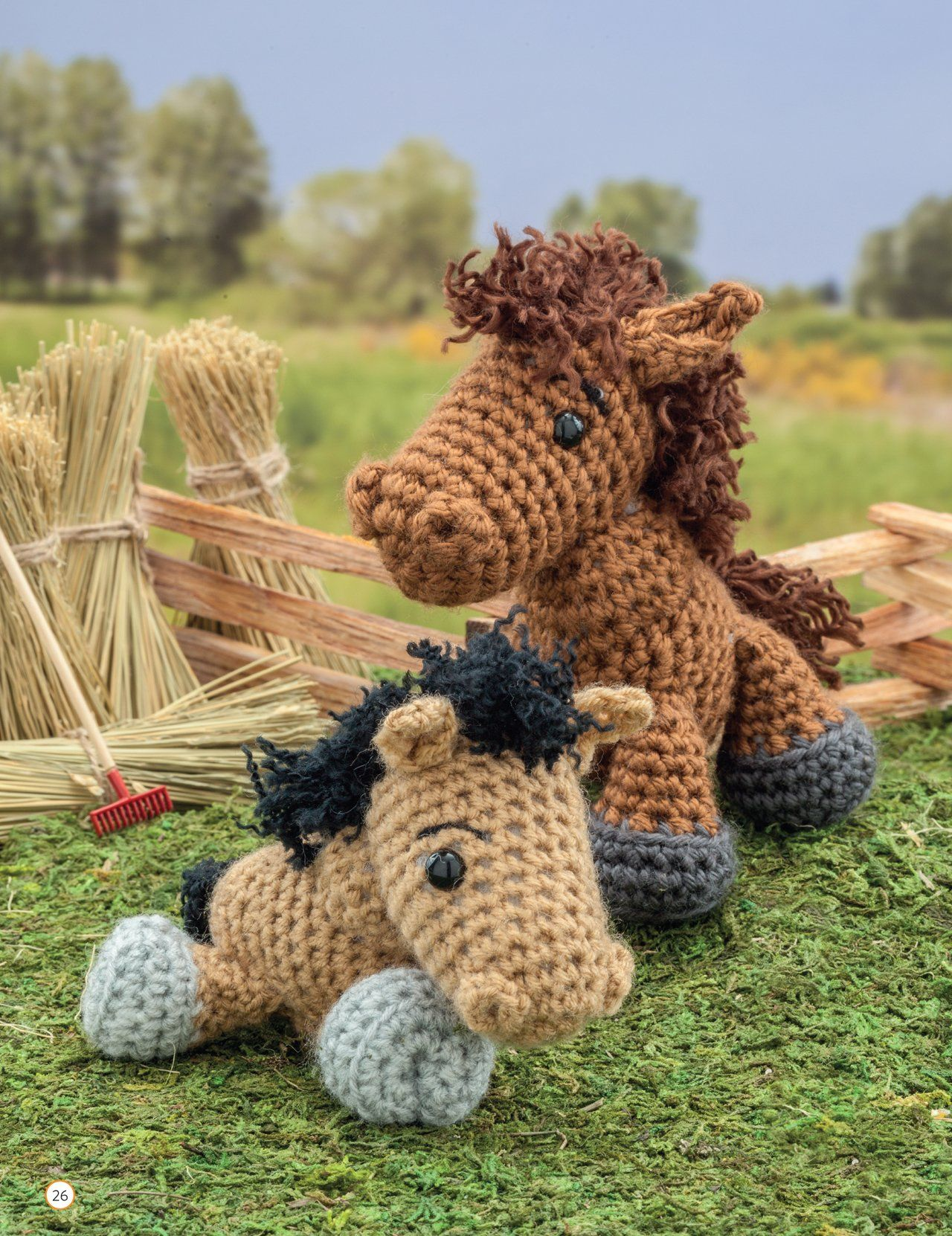 "Crochet Horses from ""Crochet a Farm - 19 Cute-as-Can-Be Barnyard Creations"" by Megan Kreiner (MK Crochet)"