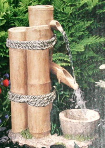 Bamboo water fountain stuff i want to make pinterest for Bamboo water feature