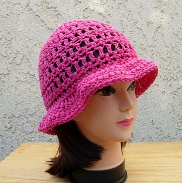 5d4087a2ba6 Women s Hot Pink Summer Sun Hat