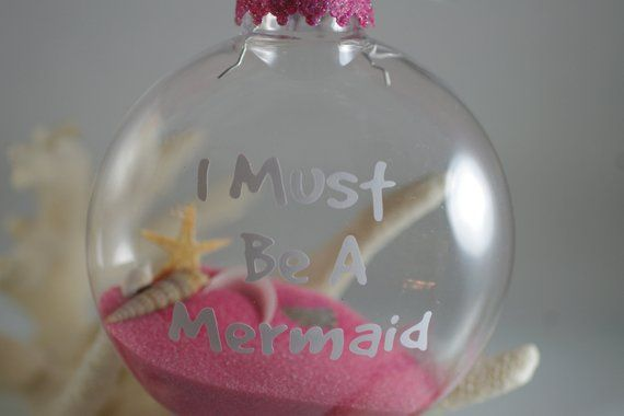 I Must Be A Mermaid Christmas Ornament - Beach Decor - Coastal