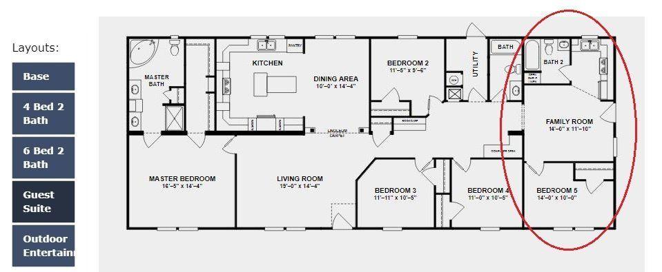 Double Wide 2 Master Suites Floor Plan Modular Home Plans Mobile Home Floor Plans Manufactured Homes Floor Plans
