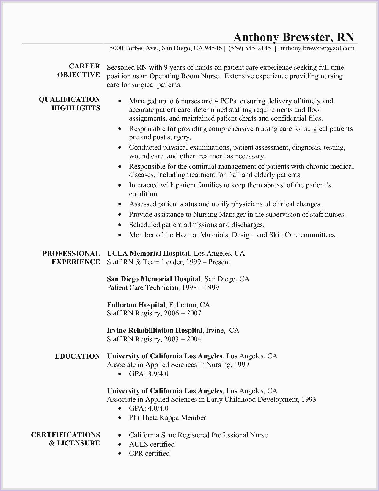 New Grad Nurse Resume New Grad Nurse Resume New Grad Nurse