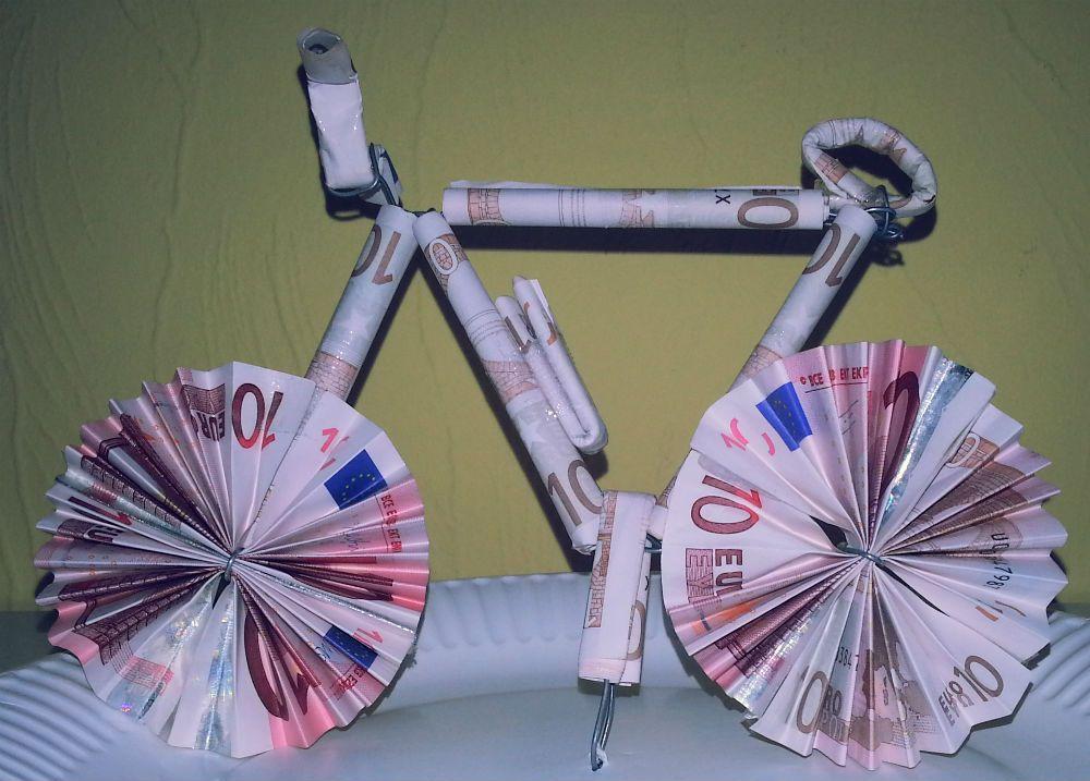 Fahrrad falten aus Geldscheinen – Stefan Graf | Geldgeschenk