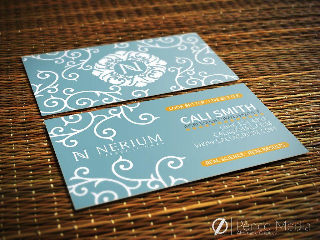Custom Nerium Business Card Design 2 Businesscards Marketing